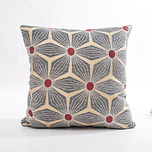 Fashion Chenille Square Pillow Cover Cushion Case Toss Pillowcase Hidden Zipper Closur