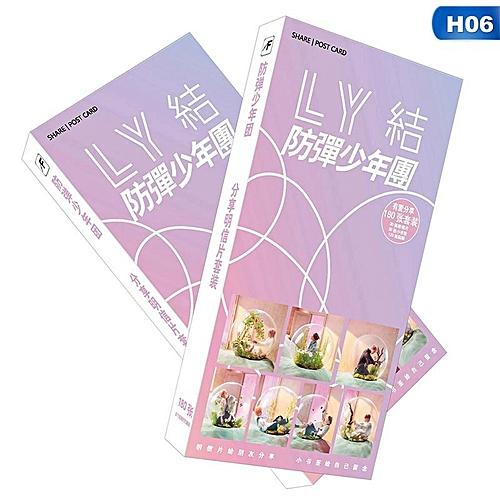 Eleganya 180 Pcs/Box Kpop BTS Love Yourself Fashion Exquisite Postcard
