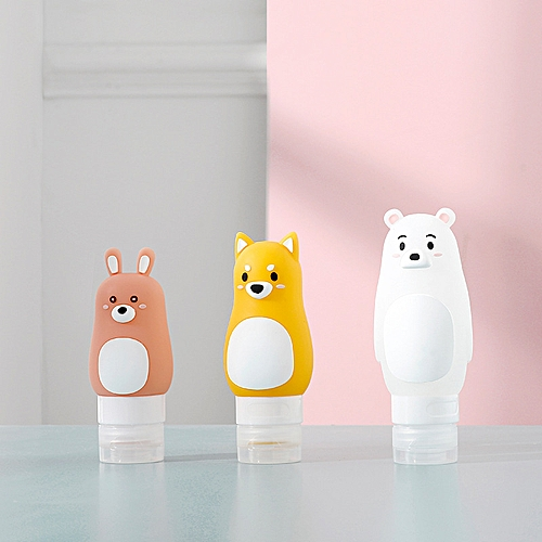 Bathroom Silicone Creative Animal Shape Portable Travel Shower Lotion Shampoo Bottles