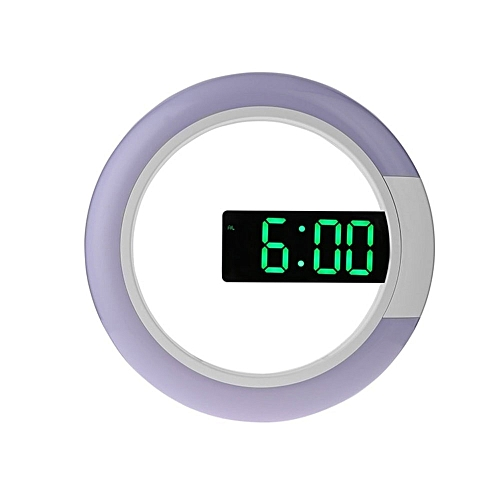 Remote Control Led Digital Wall Clock Creative LED Mirror Hollow Wall Clock With Alarm/temperature Ring Light 7 Color Change HLS