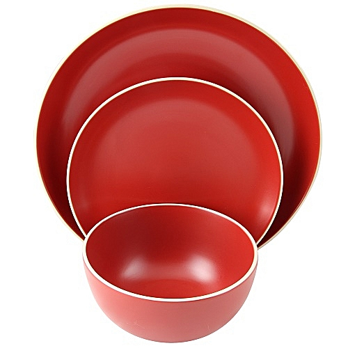6 Pieces Dinner Set - Red