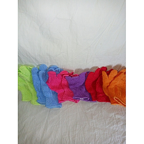Gloves Bath Sponge 6 Packs For Both Hands - Multicolour