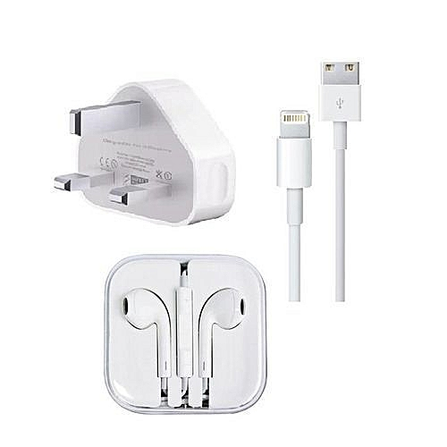 Iphone Charger & Earpiece 5,6,7,&8