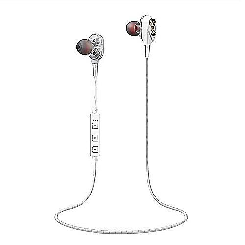 Wireless Headset Headphones With Mic Stereo Earphones—white