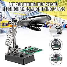 5LED Light Magnifier Helping Hand Clip Type Soldering Metal Stand for sale  Nigeria