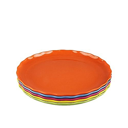 Plastic Flat Plates-Set Of 4