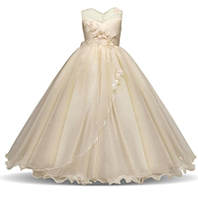 59892d524a8a1 Kids Wedding Bridesmaid Dress Flower Girls Princess Dresses Teen Sleeveless  Lace Dress Ball Gown Prom Pageant
