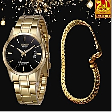 735b93181aa Men  039 s Watch With Gold-plated Bracelet Set