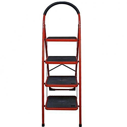 4 Step Hand-grip Folding Step Stool Ladder -Folding/Platform