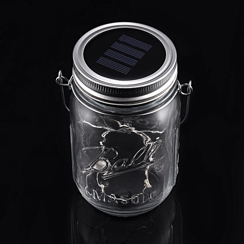 10 LEDs Mason Jar Lids Solar String Lights Waterproof For Party Garden Decor