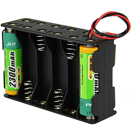 18V 12-Slot AA Battery Double Deck Back To Back Holder Box