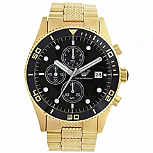 18K Gold Ionized Tone Men  039 s Quartz Steel Watch With Metal Strap 7a74d70337dcf