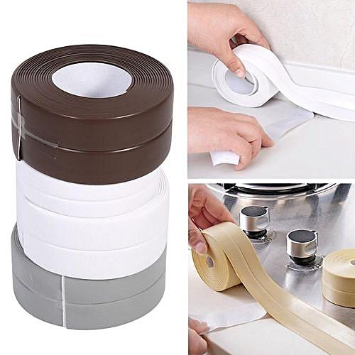 3 Pcs 3.2M Kitchen Sealing Strip Waterproof Self Adhesive Caulk Tape Bath Wall 38mm