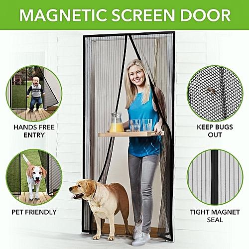 Magnetic Anti-Mosquito Mesh Door Curtain 100*210cm-Black