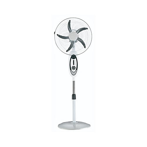 16 Inches Rechargeable Fan With LED Light Without Remote.