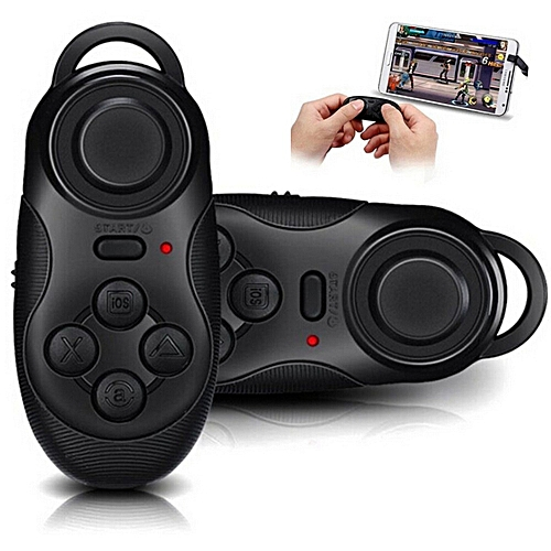 Generic Mini Gamepad Bluetooth Gamepads Game Controller Joystick Selfie Remote Shutter Wireless Mouse For ios Android Smartphone tv Box-black