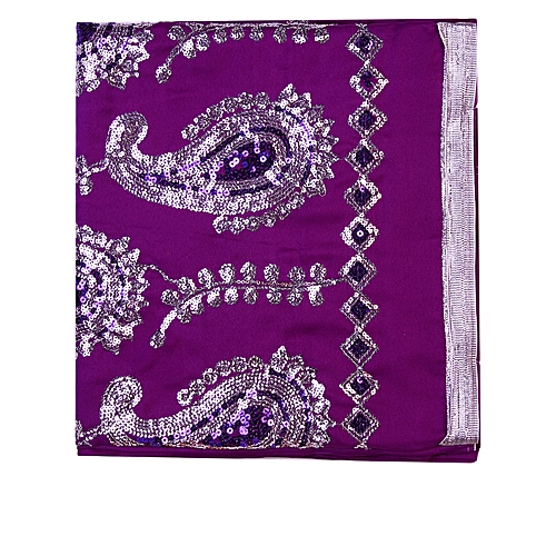 Indian Wear Fabric Plain And Patterned - Purple
