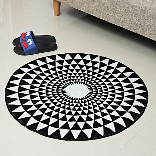UK Modern Nordic Fashion 3D Round Carpets For Living Room Rug Kid Play Floor Mat