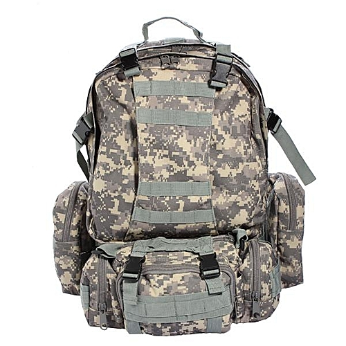 US 50L 3D Molle Assault Tactical Outdoor Military Rucksack Backpack Camping Bag #ACU
