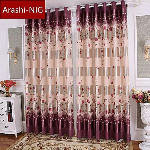 One Piecie Blackout Curtain High Grade Printed Rose Curtains For Living Dining Room Bedroom European Simple Design Curtains