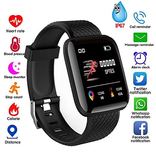 2019 Smart Watch Color Screen Blood Pressure Fitness Tracker Heart Rate Monitor Smart Band Sport For Android IOS Iphone