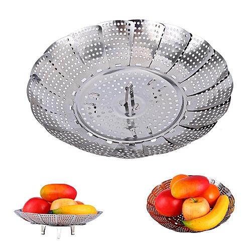 Stainless Steel Mesh Holes Vegetable Steamer Basket Cooker M