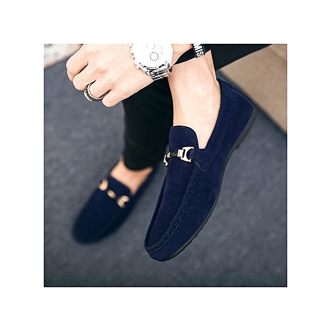 6a73a0f333ccc Fashion High Quality Men Casual Shoes Leather Loafer Shoes -blue ...