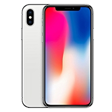 IPhone X 5.8-Inches Super AMOLED (3GB RAM, 256GB ROM) IOS 11.1.1, (12MP + 12MP) + 7MP 4G LTE Smartphone + Standard Back Case + Thick Sensitive 3D Tempered Glass Screen Protector - Silver