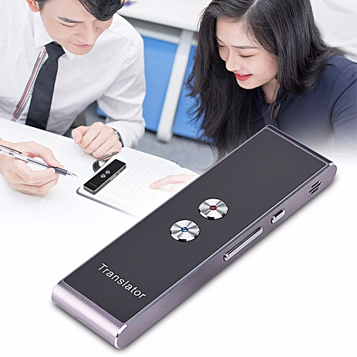 Portable Smart Two-Way Real Time Multi-Language Voice Translator For 40 Languages Learning Travel Meeting 2018 Translators QLANG