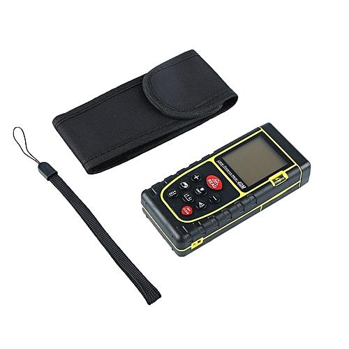Handheld Digital Laser Point Distance Meter Measure Tape Range Finder 40m Yellow