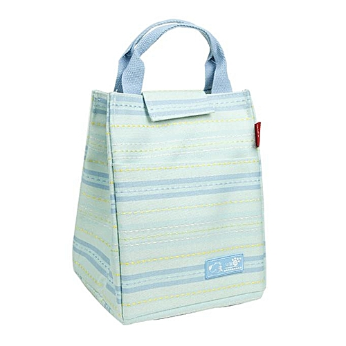 KCASA KC-CB02 Oxford Large Capacity Lunch Tote Bag Travel Picnic Fashion Stripe Bento Food Organizer