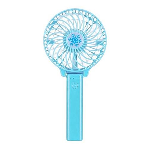 USB Rechargeable Handheld Fan Mini Adjustable Hand Bar Desktop Blue