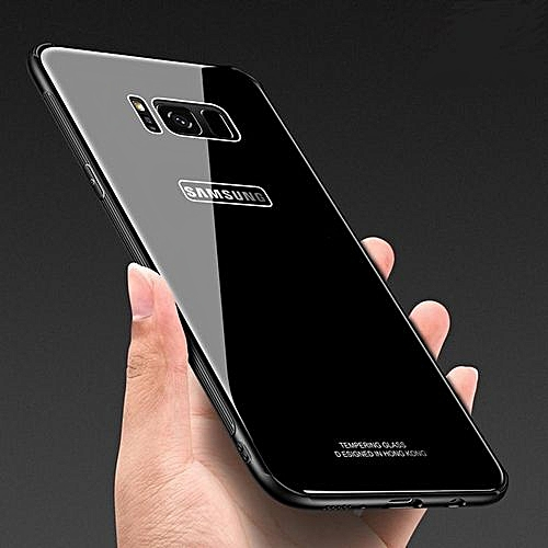 Samsung S8+ Plus Case Tempered Glass Case Phone Case For Samsung S8+ Plus - Black
