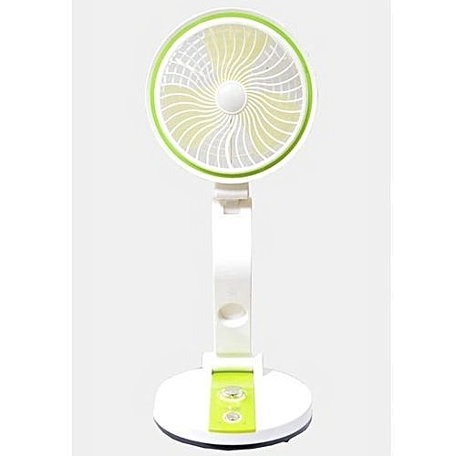 Multifunctional Rechargeable Medium Desk Fan With Led Light