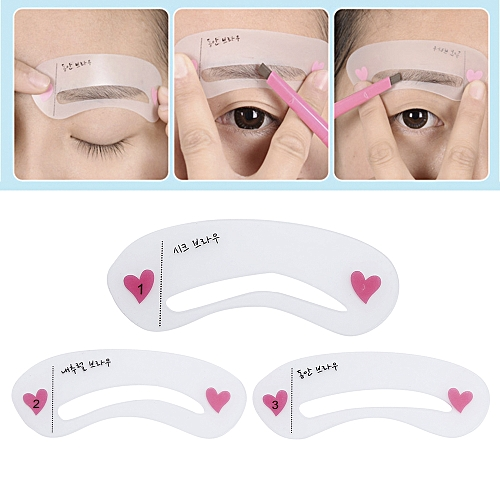 Liplasting 3 Pcs New Eyebrow Template Stencil Tool Makeup Eye Brow