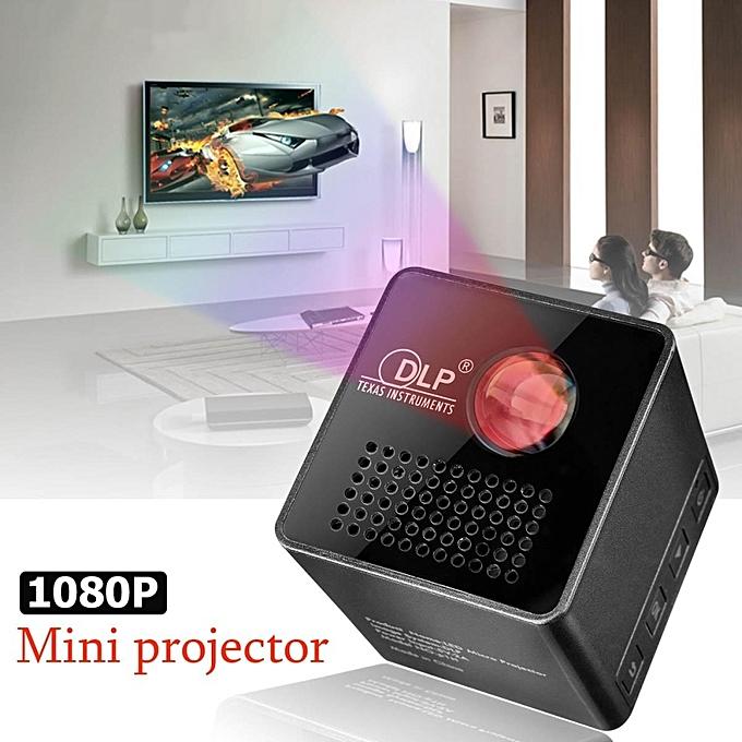 1080p Hd Led Mini Projector Multimedia Home Theater Cinema: Generic 1080P HD P1 LED DLP Mini Projector Pocket Home