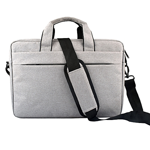 Breathable Wear-resistant Thin And Light Fashion Shoulder Handheld Zipper Laptop Bag With Shoulder Strap, For 14.0 Inch And Belowbook, Samsung, Lenovo, Sony, DELL Alienware, CHUWI, ASUS, HP (Grey)