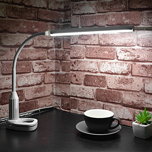 USB Powered Touch Sensor Led 5W 24 LEDs Eye Protect Clamp Clip Light Mini Folder Lamp Table Lamp Stepless Dimmable Bendable