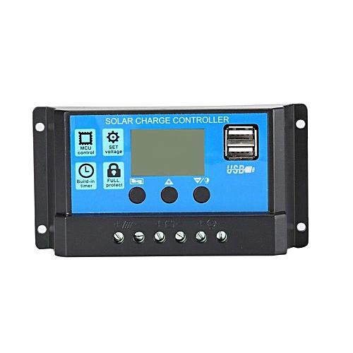 12V/24V Solar Panel Charger Controller Battery Regulator USB LCD