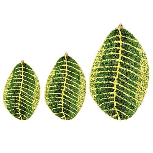 1Pc Green Leaf Shape Door Floor Antislip Kitchen Bathroom Rug