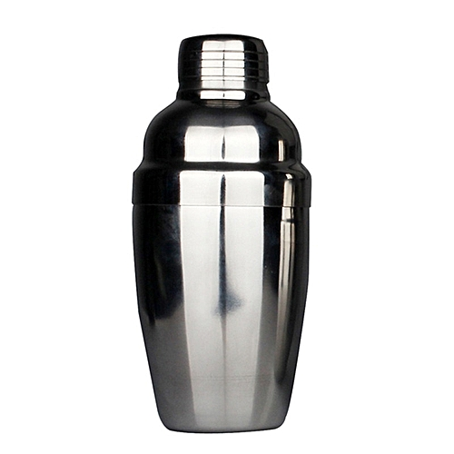 Stainless Steel Martini Cocktail Shaker Drink Mixer Pot - Silver
