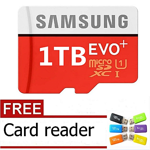 1024GB Calss10 Micro Memory SD Card With Adaptor-Samsung Red