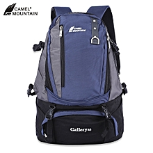 PURPLISH BLUE-CAMEL MOUNTAIN Unisex Outdoor Climbing Hiking Sport Bag  Backpack ba419fb39c