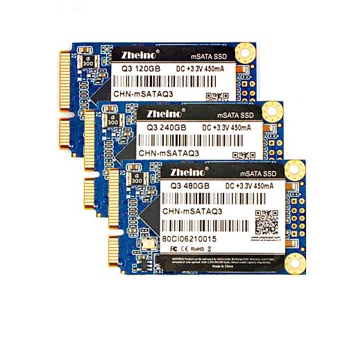 Zheino NEW MINI SATA Q3 120GB 240GB 480GB MSATA SSD Internal Solid State Disk Drive 3D TLC Hard Drive For PC Laptop Tablet MACBOOK SERVER