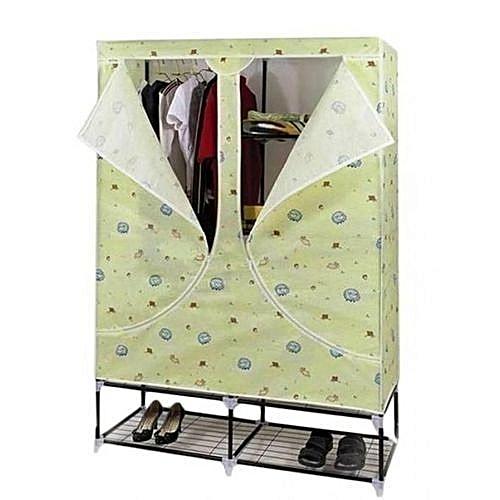 Mobile Wardrobe Closet With Shoe Rack Base