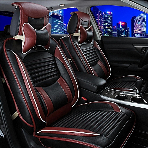 PU Leather Car Seat Cover Cushion Front Rear Set Fit For CRV Civic All 5