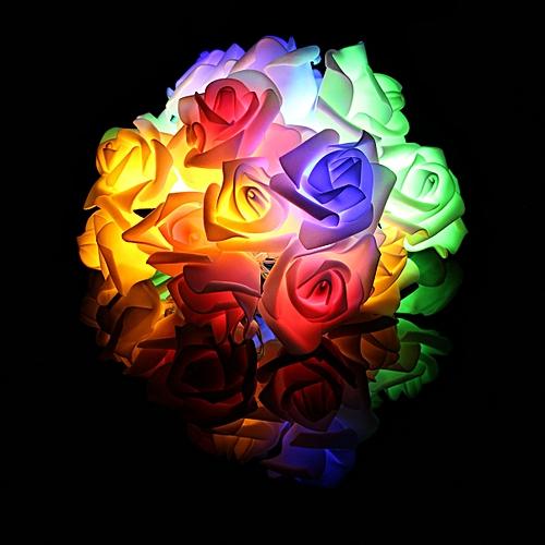1Pcs 20LED Roses Flower Night Light Fairy String Lights Colorful Light Optional AA Batteries Powered