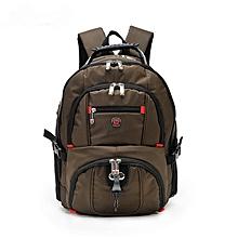 3c0c56ec13 COFFEE-AUGUR Men Backpack Waterproof Laptop For Male Teenage College Larger  Capacity Travel Bag