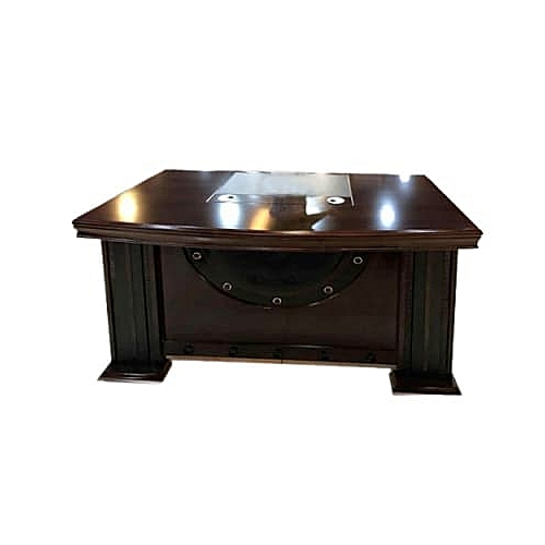 1.4M Executive Office Table - Brown