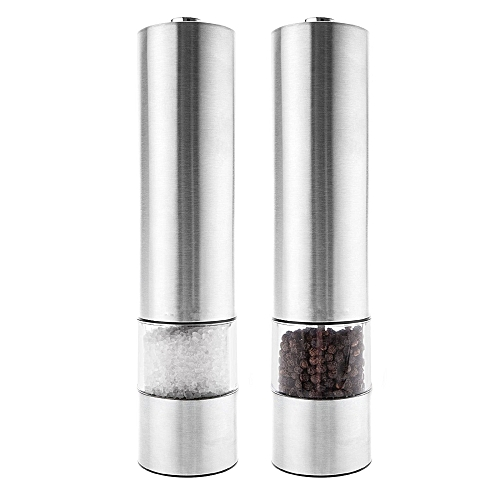 Pepper Mill Grinder Electric, Salt & Pepper Mill - Silver
